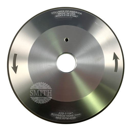 PCB 220 Vollmer 12V2 Face Grinding Wheel, Smith Sawmill Service