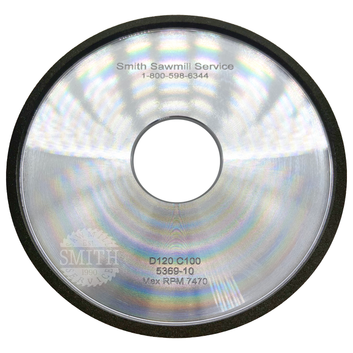 Diamond 120 1A2W Wright Top Grinding Wheel, Smith Sawmill Service