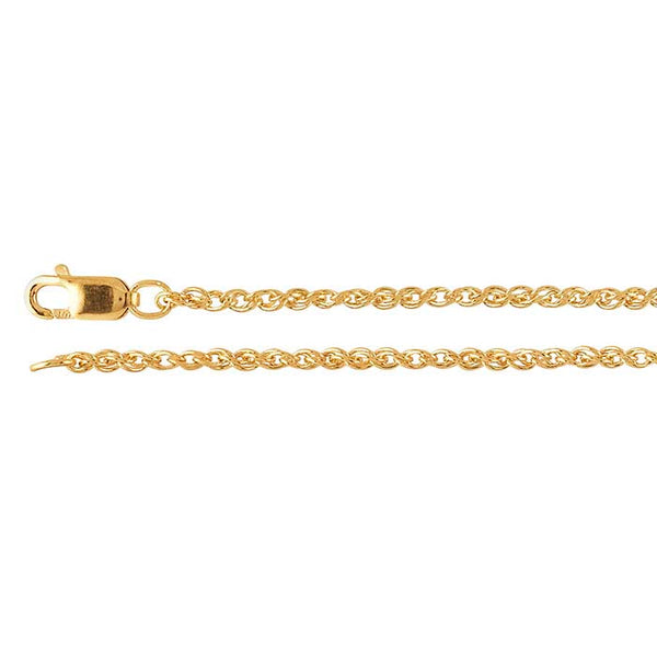 "18"" Yellow Gold-Filled Wheat Chain"