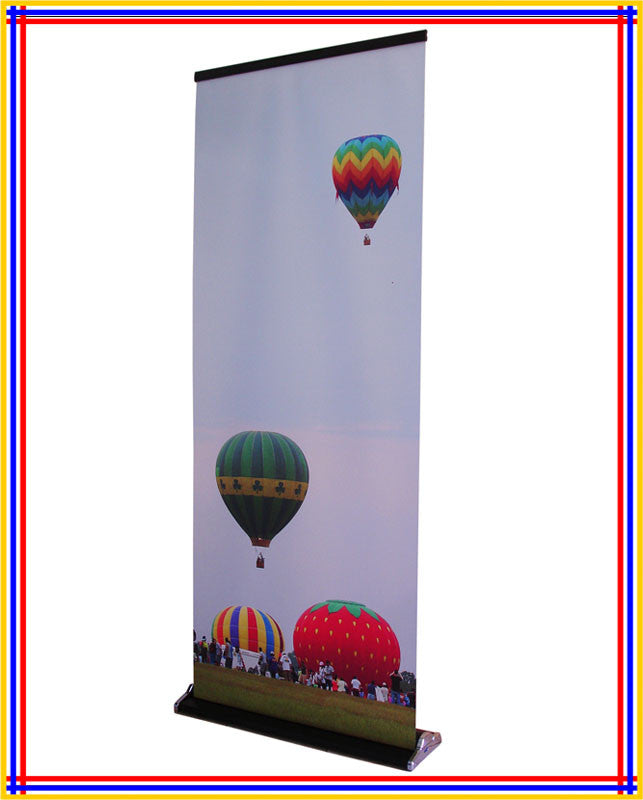 "R380, 32""x79"" Luxury Retractable Banner Stand Black"