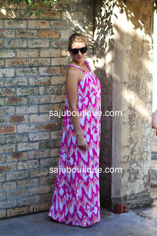 TENIELLE IN PINK Neck Tie Maxi