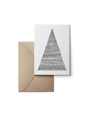 Bells, Black, Eco, Grußkarte, 6 Karten Set by Karten Design Fabrik. Supplier of designer Greeting Cards, Gift Wrap, Christmas Cards & Invitations to leading design stores including Connox, Modulor, Magazin & Manufactum.