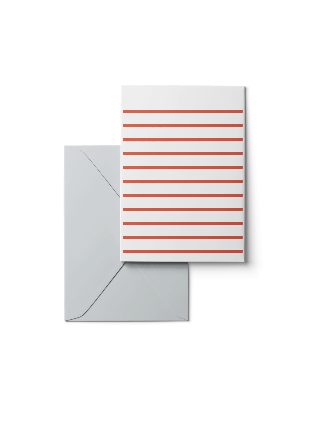 Custom Stripetown, Red, 6 Karten Set by Karten Design Fabrik. Supplier of designer Greeting Cards, Gift Wrap, Christmas Cards & Invitations to leading design stores including Connox, Modulor, Magazin & Manufactum.
