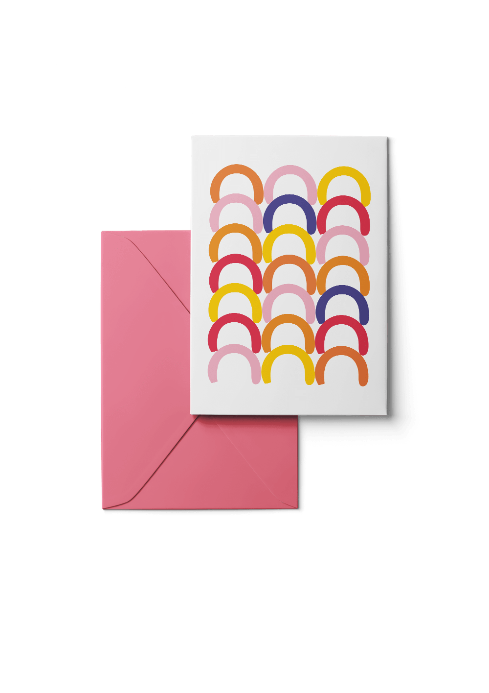 Huddle, Ochre, Grußkarte, 6 Karten Set by Karten Design Fabrik. Supplier of designer Greeting Cards, Gift Wrap, Christmas Cards & Invitations to leading design stores including Connox, Modulor, Magazin & Manufactum.