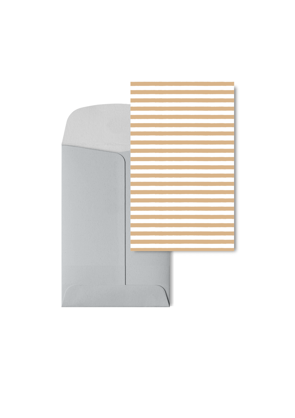 Stripetown Beige, 6 Karten Set by Karten Design Fabrik. Supplier of designer Greeting Cards, Gift Wrap, Christmas Cards & Invitations to leading design stores including Connox, Modulor, Magazin & Manufactum.