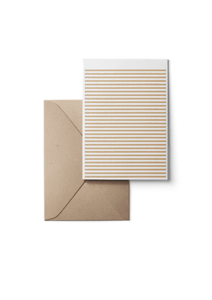Stripetown, Beige, Eco, Grußkarte, 6 Karten Set by Karten Design Fabrik. Supplier of designer Greeting Cards, Gift Wrap, Christmas Cards & Invitations to leading design stores including Connox, Modulor, Magazin & Manufactum.