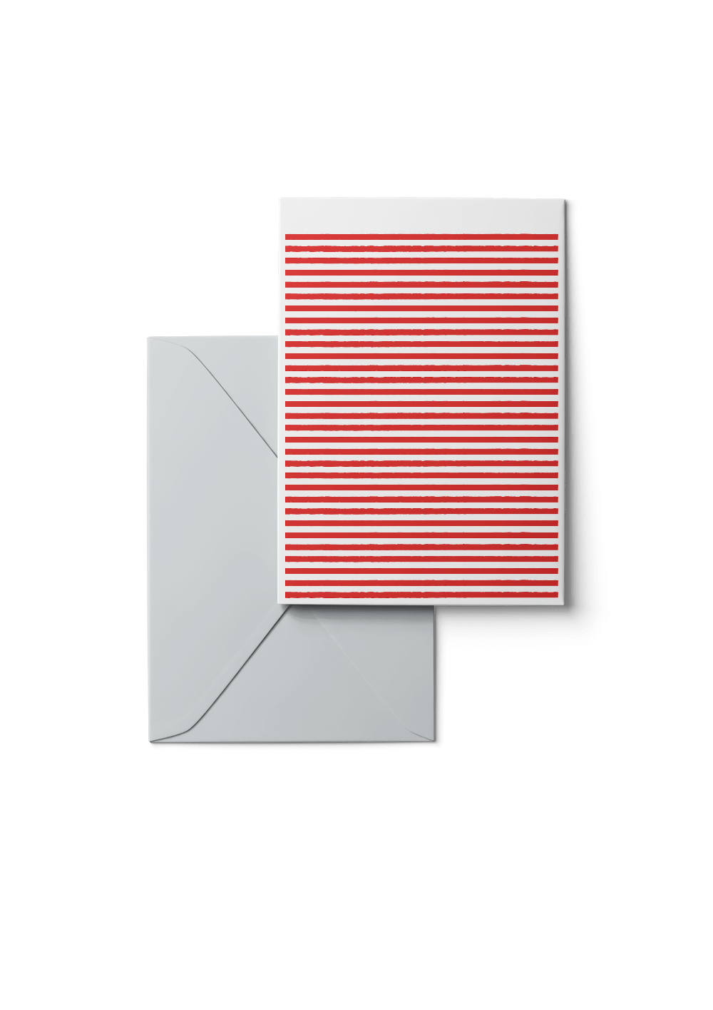 Stripetown, Fire Engine Red, 6 Karten Set by Karten Design Fabrik. Supplier of designer Greeting Cards, Gift Wrap, Christmas Cards & Invitations to leading design stores including Connox, Modulor, Magazin & Manufactum.