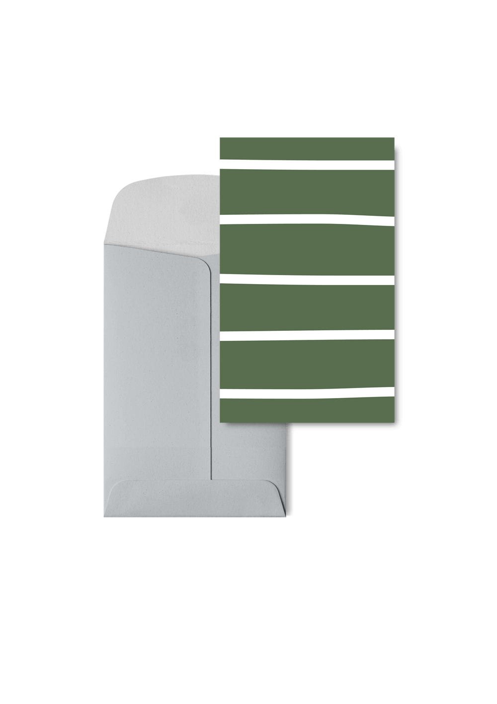 Stripetown Green, 6 Karten Set by Karten Design Fabrik. Supplier of designer Greeting Cards, Gift Wrap, Christmas Cards & Invitations to leading design stores including Connox, Modulor, Magazin & Manufactum.
