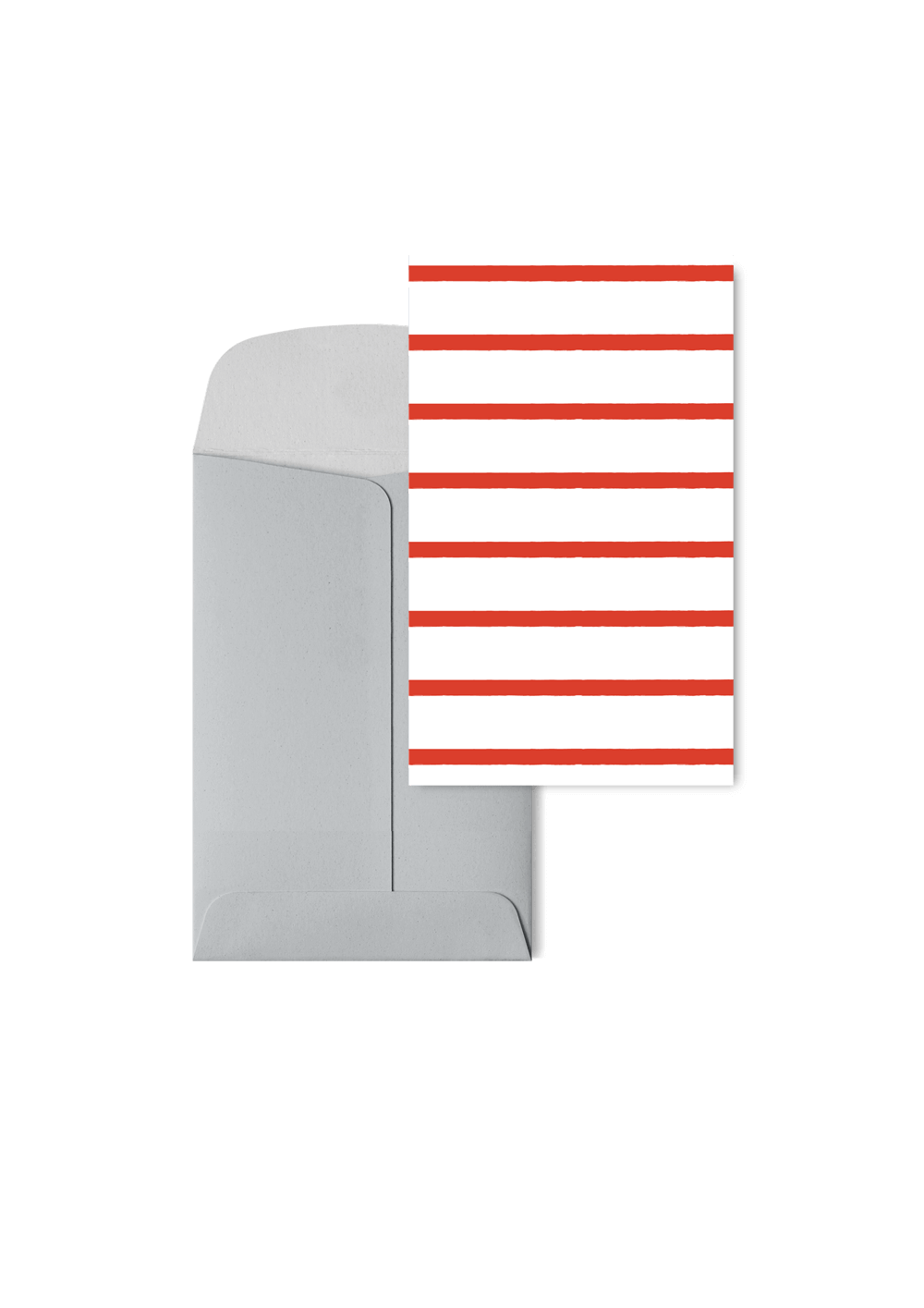 Stripetown Red, 6 Karten Set by Karten Design Fabrik. Supplier of designer Greeting Cards, Gift Wrap, Christmas Cards & Invitations to leading design stores including Connox, Modulor, Magazin & Manufactum.
