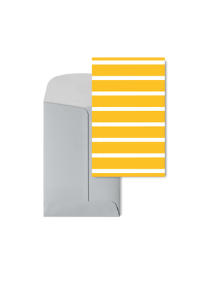 Stripetown Yellow, 6 Karten Set by Karten Design Fabrik. Supplier of designer Greeting Cards, Gift Wrap, Christmas Cards & Invitations to leading design stores including Connox, Modulor, Magazin & Manufactum.