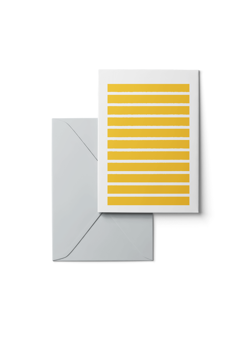 Stripetown, Yellow, Grußkarte, 6 Karten Set by Karten Design Fabrik. Supplier of designer Greeting Cards, Gift Wrap, Christmas Cards & Invitations to leading design stores including Connox, Modulor, Magazin & Manufactum.
