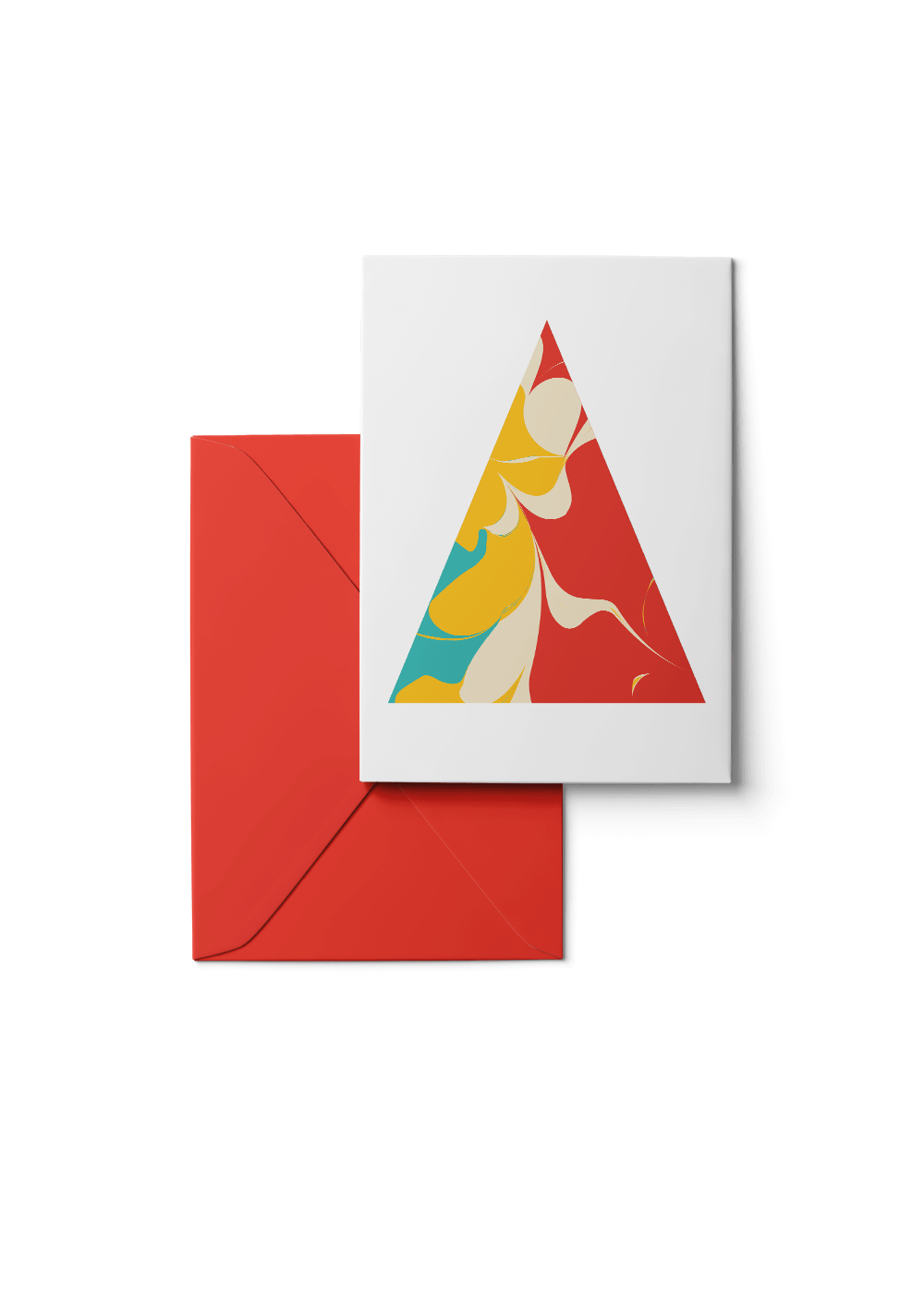 Tinte, Blood Orange, 6 Karten Set by Karten Design Fabrik. Supplier of designer Greeting Cards, Gift Wrap, Christmas Cards & Invitations to leading design stores including Connox, Modulor, Magazin & Manufactum.