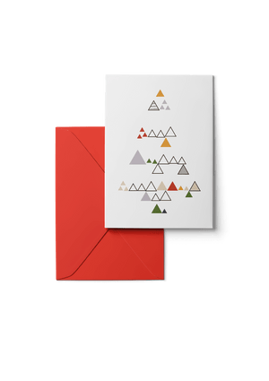 Wooded Hills, Multi, 6 Karten Set by Karten Design Fabrik. Supplier of designer Greeting Cards, Gift Wrap, Christmas Cards & Invitations to leading design stores including Connox, Modulor, Magazin & Manufactum.