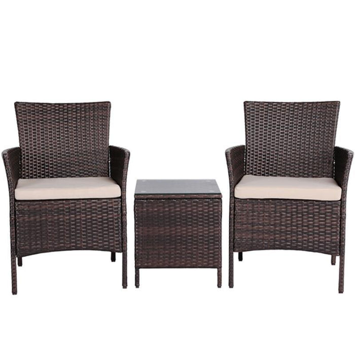 Yaheetech Rattan Chairs and Table