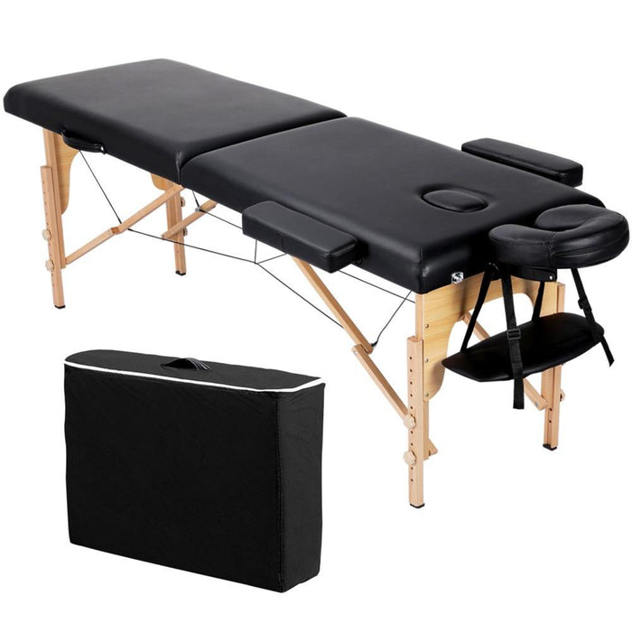 Yaheetech 84 Inch Adjustable 2 Fold Salon Bed