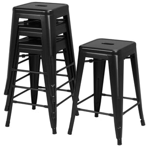 Yaheetech 24 inch Set of 4 Counter Height Metal Bar Stools