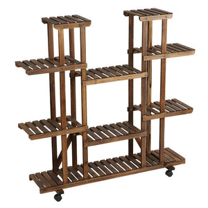 Yaheetech 6 Tier Wood Plant Pots Shelves