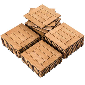 Yaheetech Outdoor Tiles Patio Tiles 27pcs