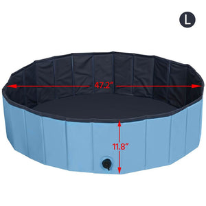 Foldable Pet Dogs Cats Paddling Pool