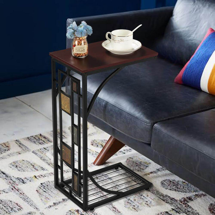 Yaheetech Sofa Side Table