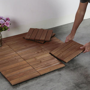 Yaheetech Outdoor Tiles Wood 11pcs