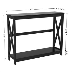 Yaheetech Console Table 2 Tiers