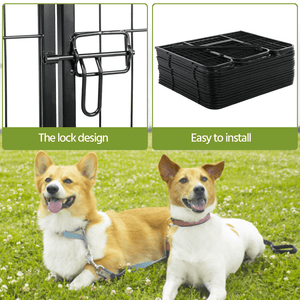 Yaheetech Dog Playpen 16 Panels 24 Inch