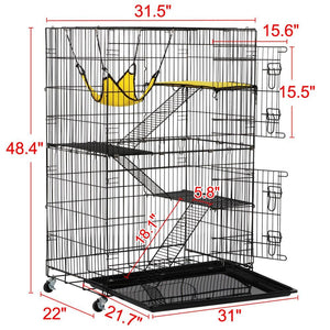 Yaheetech Metal Wire Cat Cage