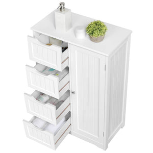 Yaheetech Bathroom Cabinet 4 Drawers