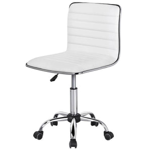 Yaheetech adjustable PU Leather Low Back Desk Office Chair