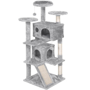 Yaheetech Kitten Tree Tower w/2 Condos 54 Inch