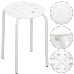 5 Plastic Stackable Stools