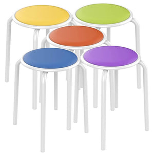 Assorted Color Padded Stack Stools