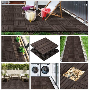 Yaheetech Patio Deck Tiles 27pcs