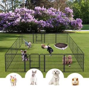 Yaheetech Dog Playpen 16 Panels 32 Inch