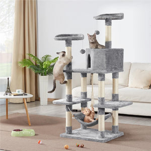 Yaheetech Cat Tree Tower 62.2 Inch