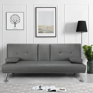 Yaheetech Sofa Bed Brown/Gray