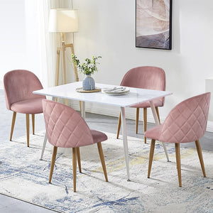 Yaheetech Dining Chairs Pink