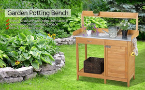 Garden Potting Bench Table
