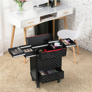 Yaheetech Makeup Case Black