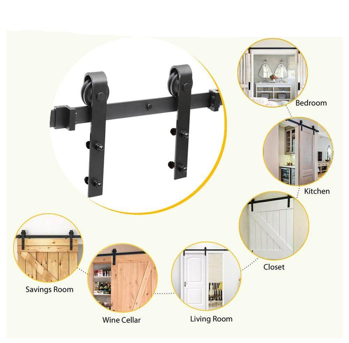 Yaheetech 8Ft Heavy Duty Sliding Barn Door Hardware
