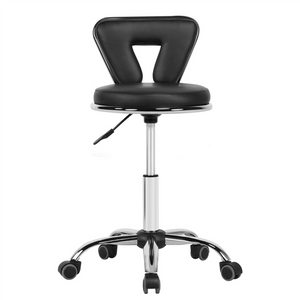 Height-Adjustable Rolling Salon Stool