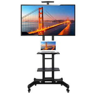 Yaheetech Height Adjustable Mobile TV Stand