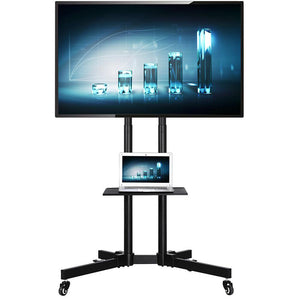 Yaheetech Modern Mobile TV Stand Cart for 32-65in Screens