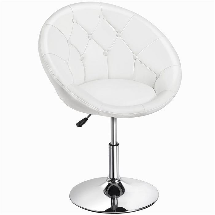 Yaheetech Swivel Tufted Barrel Chair
