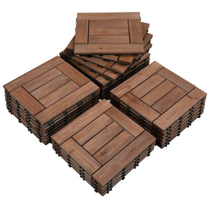 Yaheetech Wooden Floor Tiles 27pcs