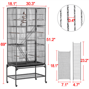 Yaheetech 69-inch Extra-large Pet Cage