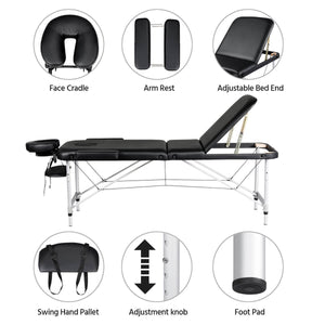 Yaheetech Massage Bed Black