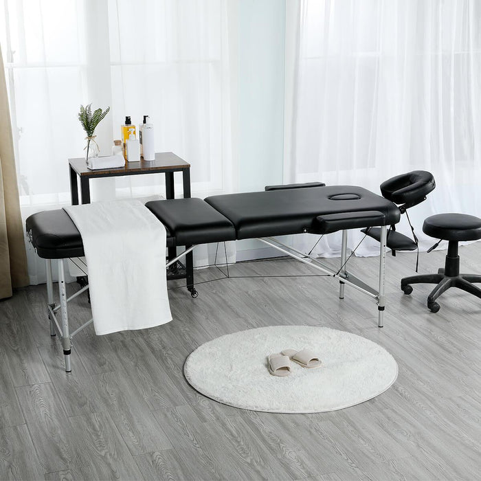 Yaheetech 84 Inch Aluminium Frame Salon Spa Table
