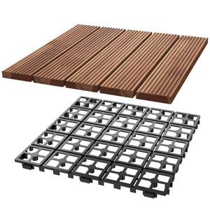 11pcs Wood Flooring Tiles